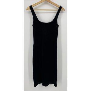Ralph Lauren Black Sparkle Velvet Midi Dress